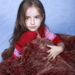 Portrait of girl of concealed by fur — Stock Photo #1232714
