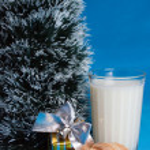 Постер, плакат: Milk croissants souvenir and the tree