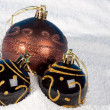 Christmas bauble on to snow. — Stock Photo #1290708