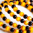 Stock Photo: Round facet beads.