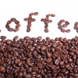 Coffee word written from coffee beans. — Stock Photo #1969503