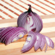 Royalty-Free Stock Photo: Red onion, isolated against