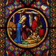 Christmas.Sained glas window — Stock Photo