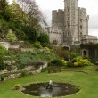 Garden in the Windsor Castle. Edward tow - Stock Photo