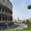 Ordinary life near Coliseum — Stock Photo