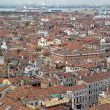 Stock Photo: Top view of Venice roof and sea port.