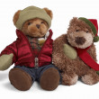 Stock Photo: Soft teddy bear couple