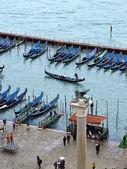 San Marco gondolas. Venice, Italy — Stock Photo