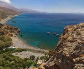 Crete palm beach — Stock Photo