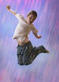 Blue jump — Stock Photo