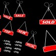 Royalty-Free Stock Imagen vectorial: Set of red advertising tags