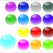 Royalty-Free Stock Vectorielle: Web buttons made of glass