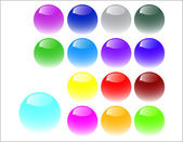Web buttons made of glass — Stock Vector