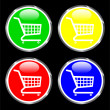 Royalty-Free Stock Imagen vectorial: Shopping-cart web button