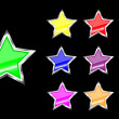 Royalty-Free Stock Imagen vectorial: Star web buttons