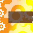Stock Vector: Cog wheel background banner