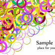 Confetti colorful background splash effe — Stock Vector