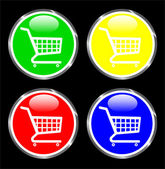 Shopping-cart web button — Stock Vector