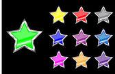 Star web buttons — Stock Vector