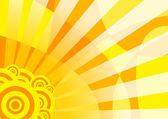 Orange solar summer banner — Stock Vector