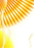 Colorful sunny orange blank card — Stock vektor