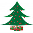 Royalty-Free Stock Vector Image: Decorative christmas tree with gifts