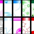 Royalty-Free Stock Vector Image: Set of colorful vertical cards