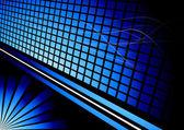 Blue three-dimensional advertisement — Stock Vector