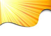 Sunburst banner - sun concept — Stock Vector