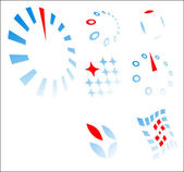 Logo templates - concept build on differ — Stock Vector