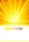 Vector abstract sunny banner with glass — Stock Vector