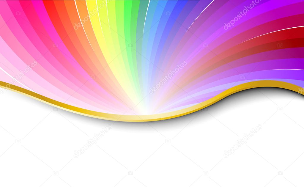 Rainbow abstract pattern. Vector illustration — Vektorgrafik #1275175