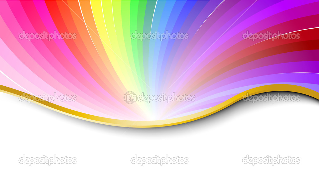 Rainbow abstract pattern. Vector illustration  Image vectorielle #1275175
