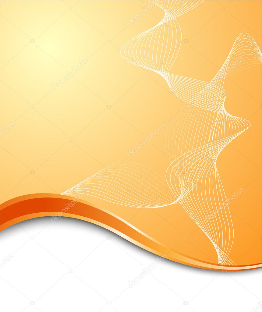 Orange high-tech background template. Vector illustration — Stock Vector #1832572
