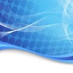 波の青のハイテク背景 — ストックベクタ