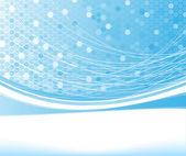 Blue net concept banner — Stock Vector