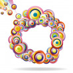 abstrakt rainbow mönster — Stockvektor