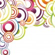 Royalty-Free Stock 矢量图片: Colorful background template - rainbow