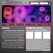Website abstract design template — Stock Vector