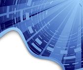 Technological blue background - hi-tech — Stock Vector
