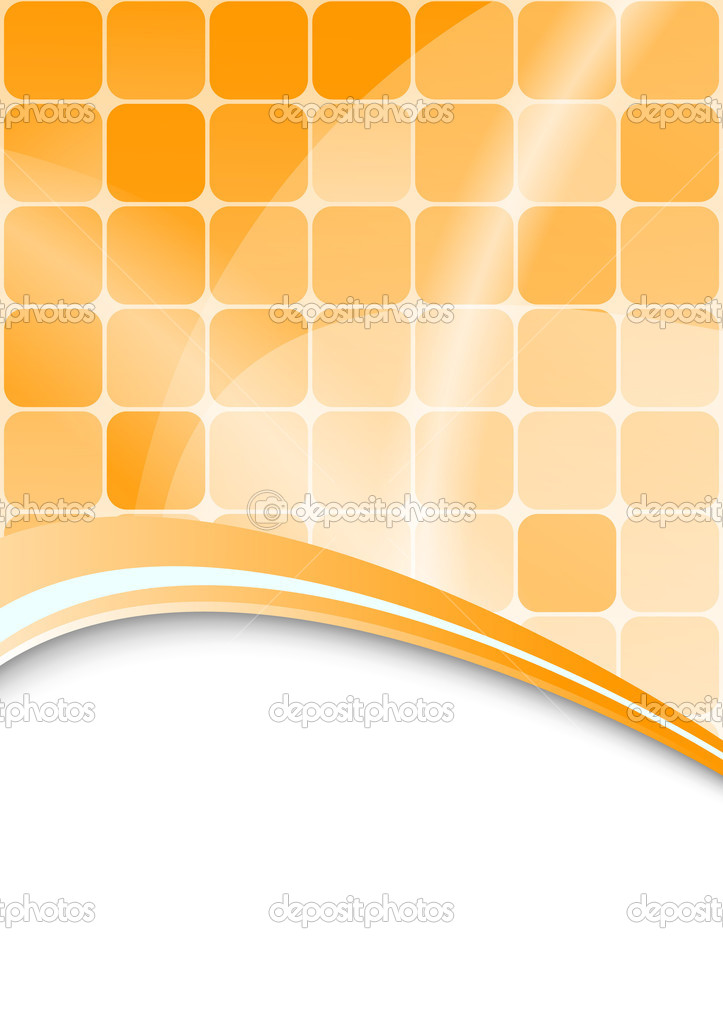 Orange abstract background with cells. Vector — ベクター素材ストック #2571941