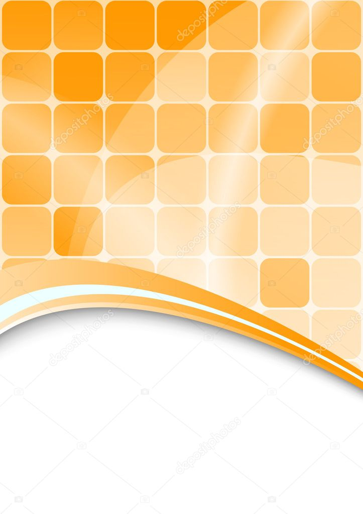 Orange abstract background with cells. Vector — Векторная иллюстрация #2571941