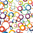 Abstract background with rainbow circles — Stock Vector