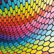 Abstract cell rainbow background — Stok Vektör