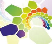 Rainbow cell tunnel — Stock Vector