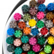 Coloured markers on white backround — Stock Photo #1101091