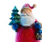 Santa with fur-tree — Stock Photo
