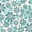 Stock Photo: Retro Daisy Pattern