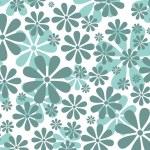 Retro Daisy Pattern — Stock Photo