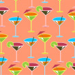 Cocktail pattern — Stock Photo
